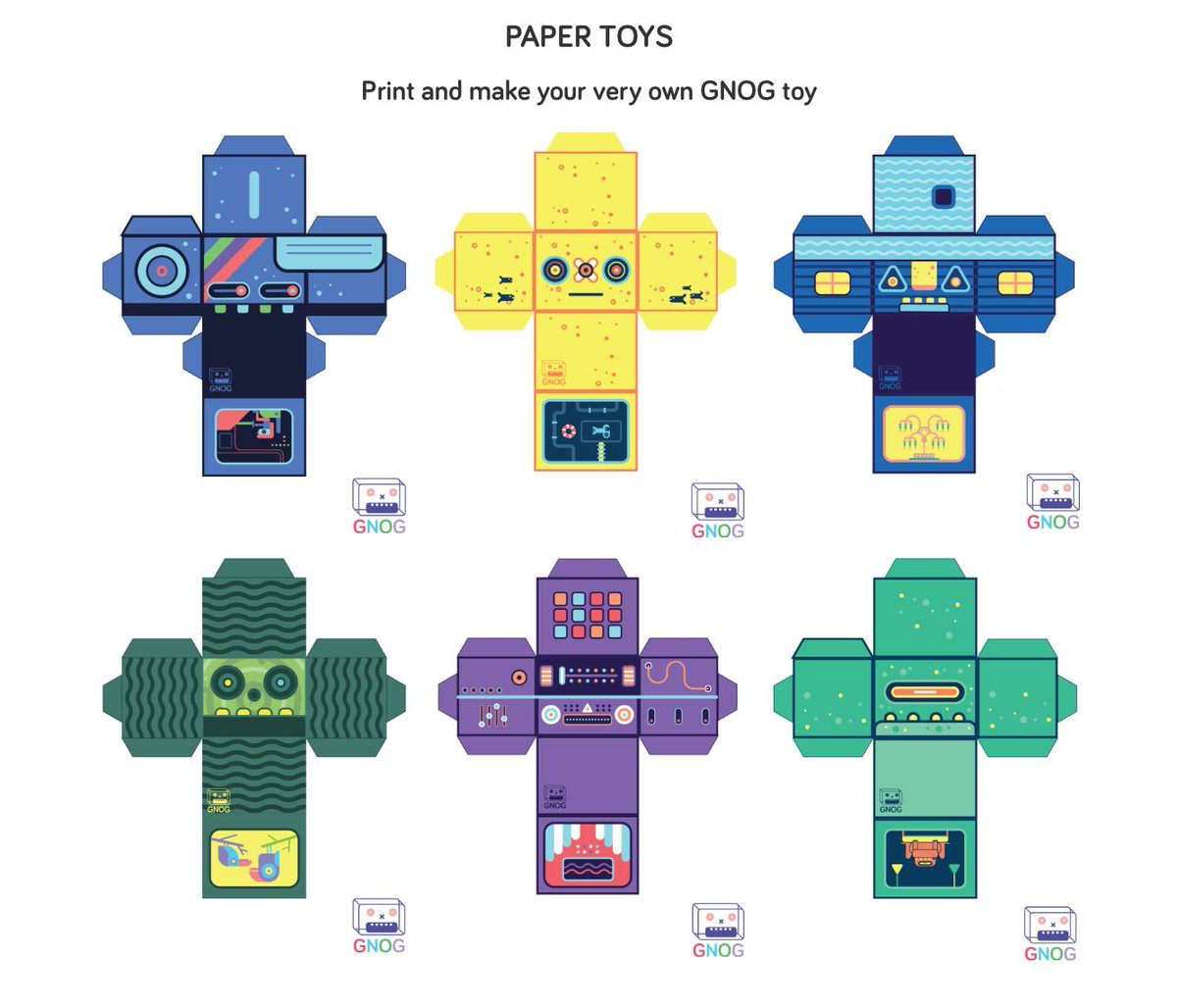 ko op on twitter download the gnog paper toy template cut fold