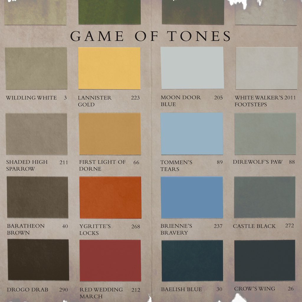 Farrow ball on twitter her grace queen cersei 39 probably 39 specified lannister gold in the - Farrow and ball exterior paint colors model ...