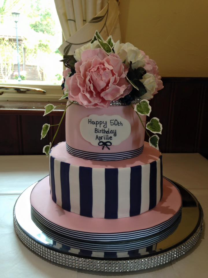 Incredible Iced Images Cakes On Twitter 50Th Birthday Cake Sugar Work Pink Personalised Birthday Cards Veneteletsinfo