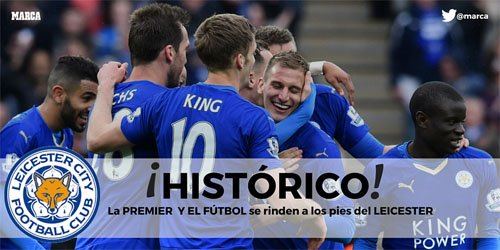 FINAL | Chelsea 2-2 Tottenham. ¡¡El Leicester City, campeón de la #Premier League!! https://t.co/n3Ku3lz0GC