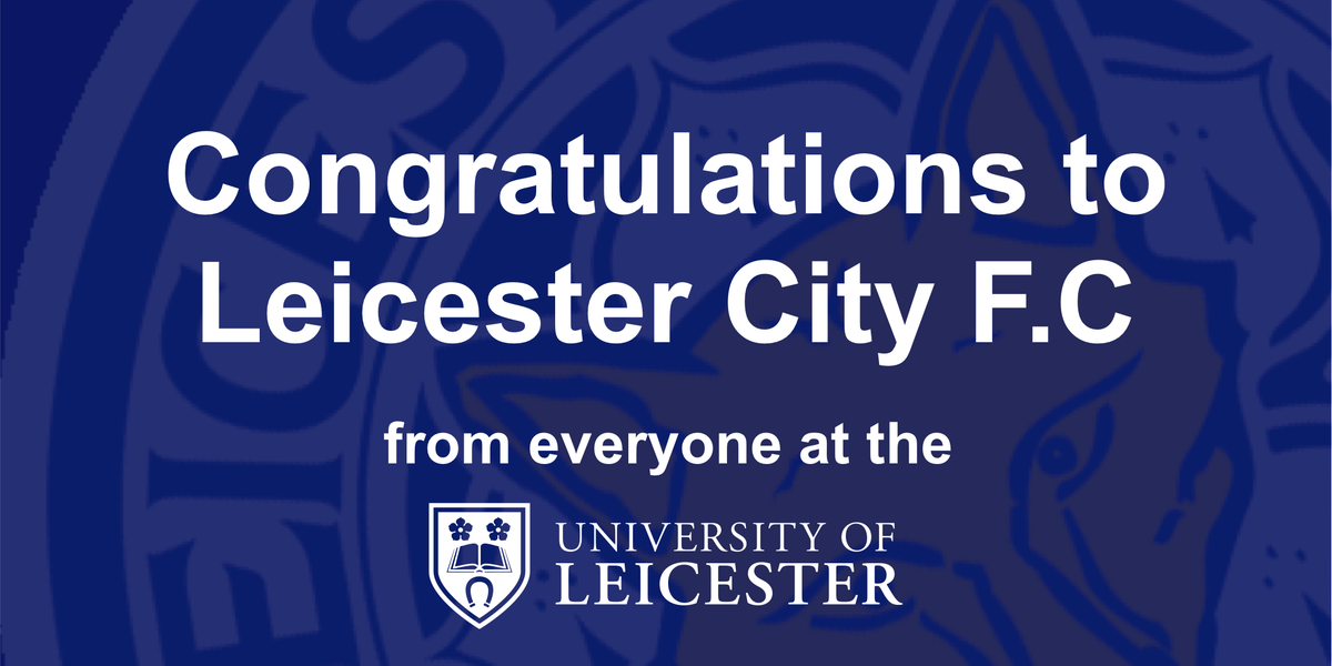 Blue is the colour! Congratulations @LCFC on being crowned @premierleague champions! https://t.co/mY2hTgBVwz
