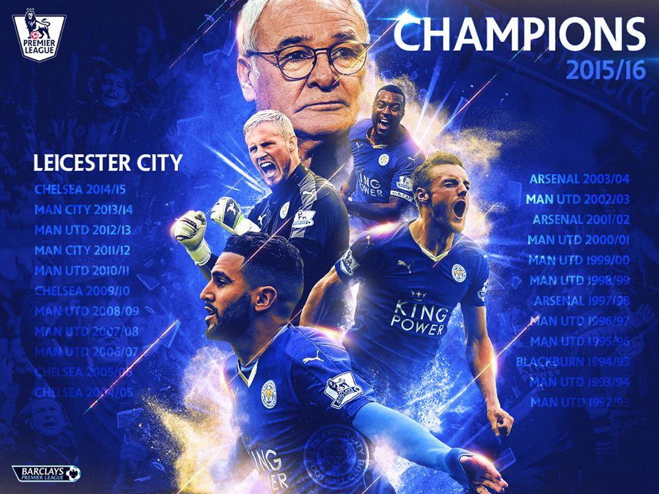 Leicester City have etched their name on the Barclays Premier League honour roll...