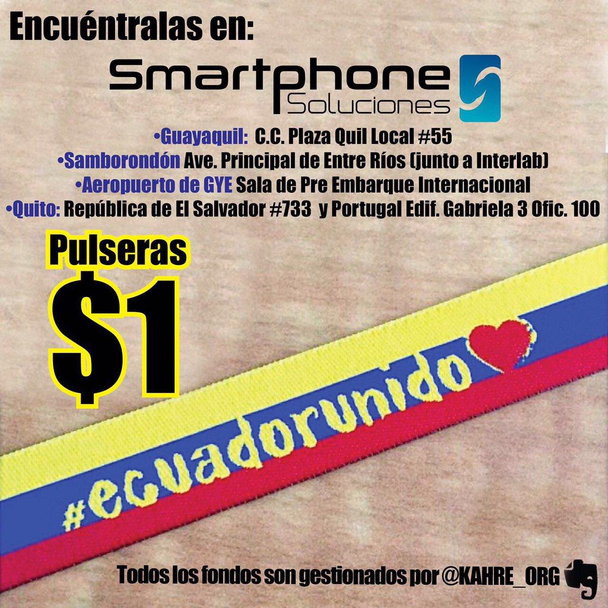 Tenemos las pulseras #ecuadorunido