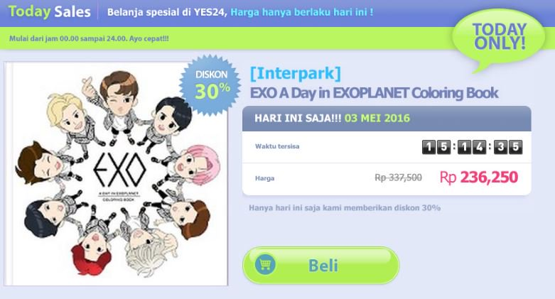 YES24 Indonesia On Twitter TODAY SALE EXO A Day In EXOPLANET