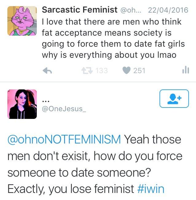 dating een feministische Twitter