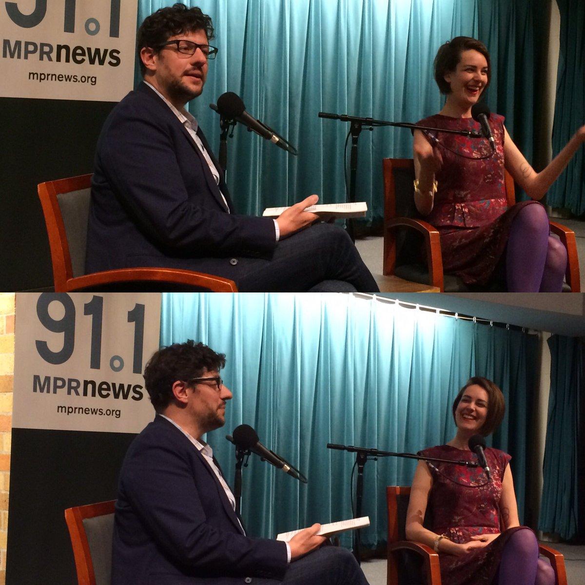 Call your girlfriend...Fun conversation #mpr @annfriedman @webertom1 Broadcast Journalist Series at St. Thomas https://t.co/Wr1xfQBerk