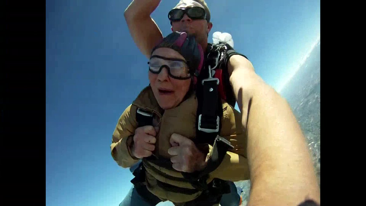 Grandmother spends 90th birthday skydiving