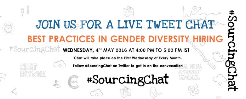 "Be a part of #SourcingChat tomorrow at 4PM on ""Best Practices In Gender Diversity #Hiring""  https://t.co/5yEY2afqNM https://t.co/p2GdXv5wZG"