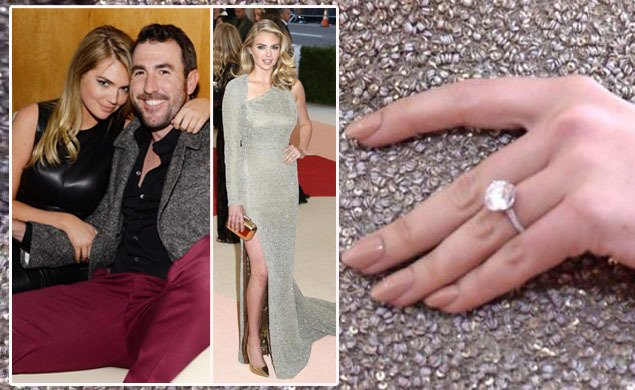 Kate upton shows off engagement ring from detroit tigers ...