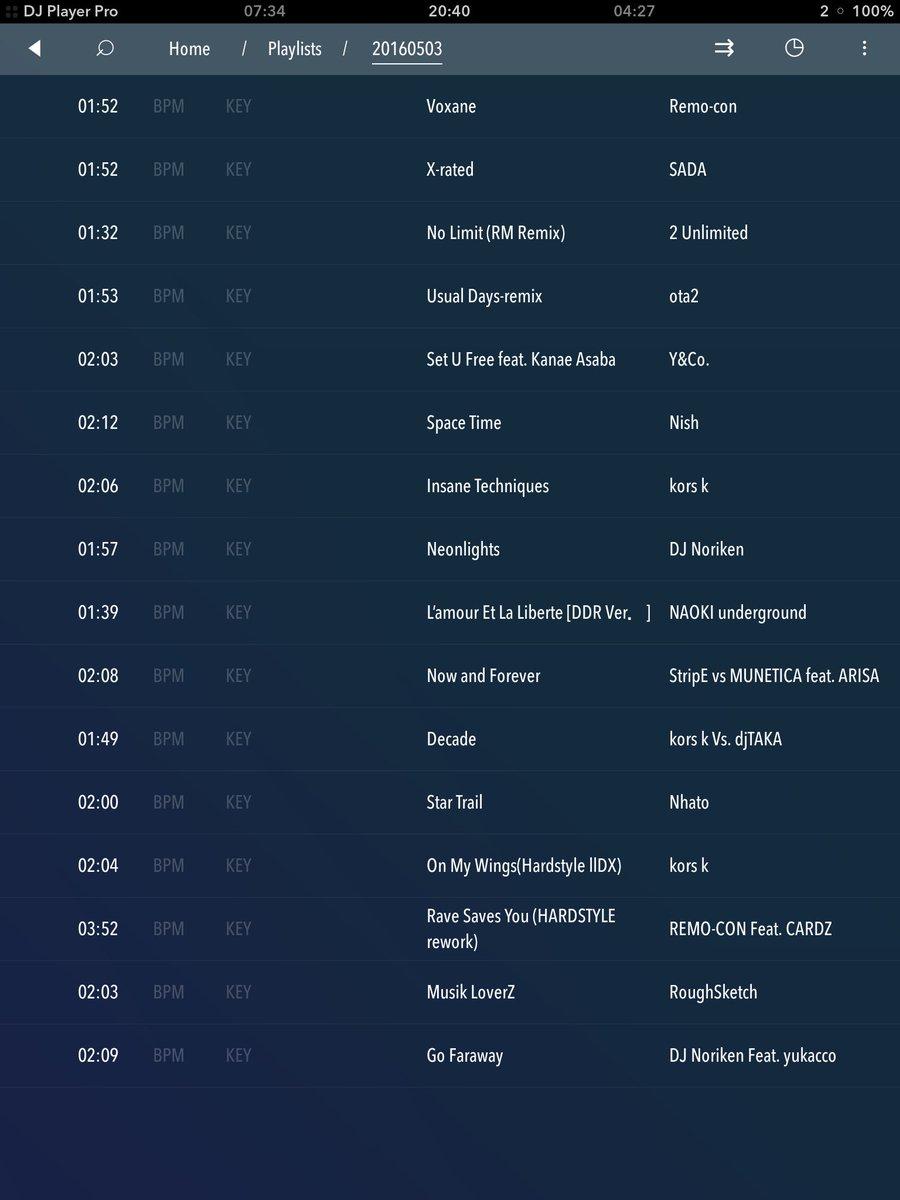 本日のリストをお届け、低偏差値系ド低音知育DJでした。楽しんでくれたならこれ幸い! #KONAMIX https://t.co/TgPVL4atiF