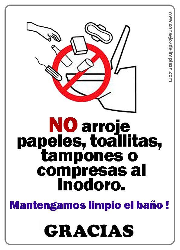 Consejos de limpieza on twitter letreros o avisos de - Como limpiar el wc ...