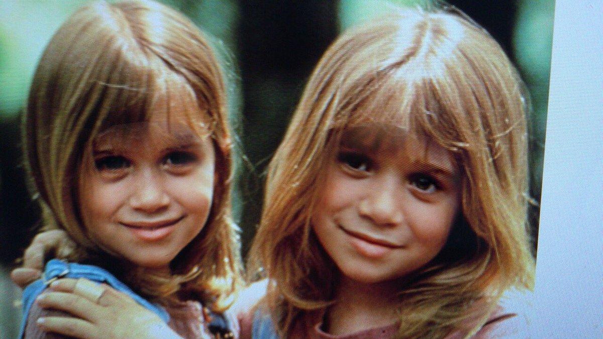 facial Olsen twins