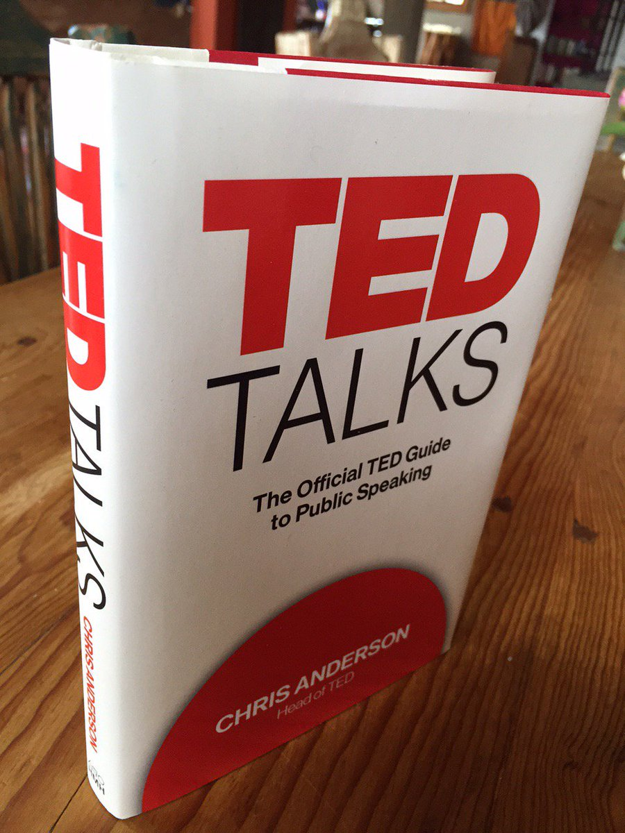 After a 2 yr journey, published at last! TED Talks, official TED Guide to Public Speaking https://t.co/6MbZetzQEj https://t.co/SmLJxQKQu4