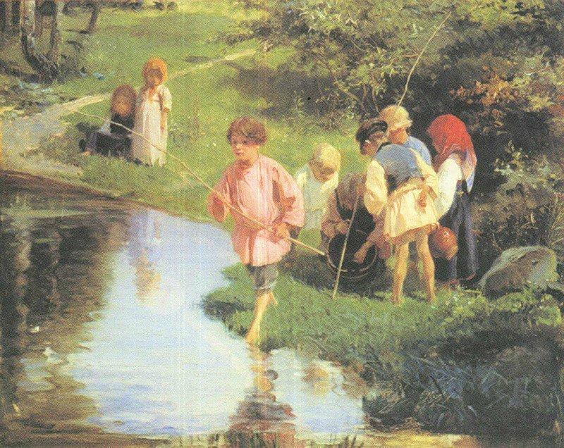 известные картины рыбалки