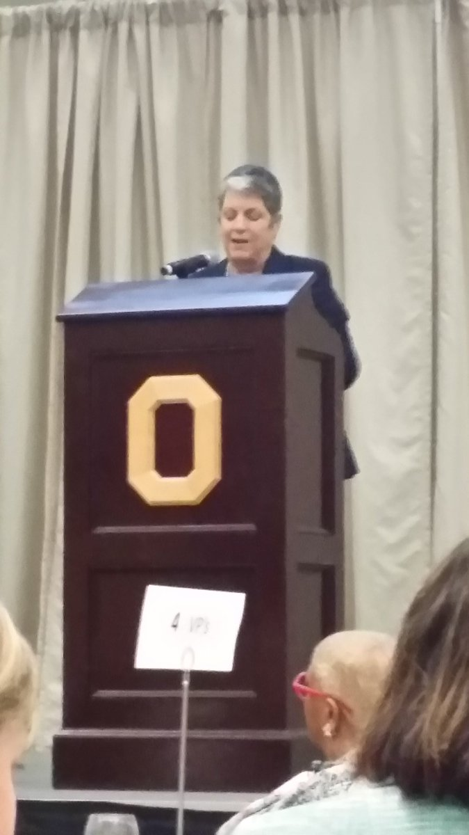 """Opportunity as wide as the morning."" @JanetNapolitano  quotes Emerson, lauds land grant universities. #OSUengages https://t.co/PyGCuhfUNN"