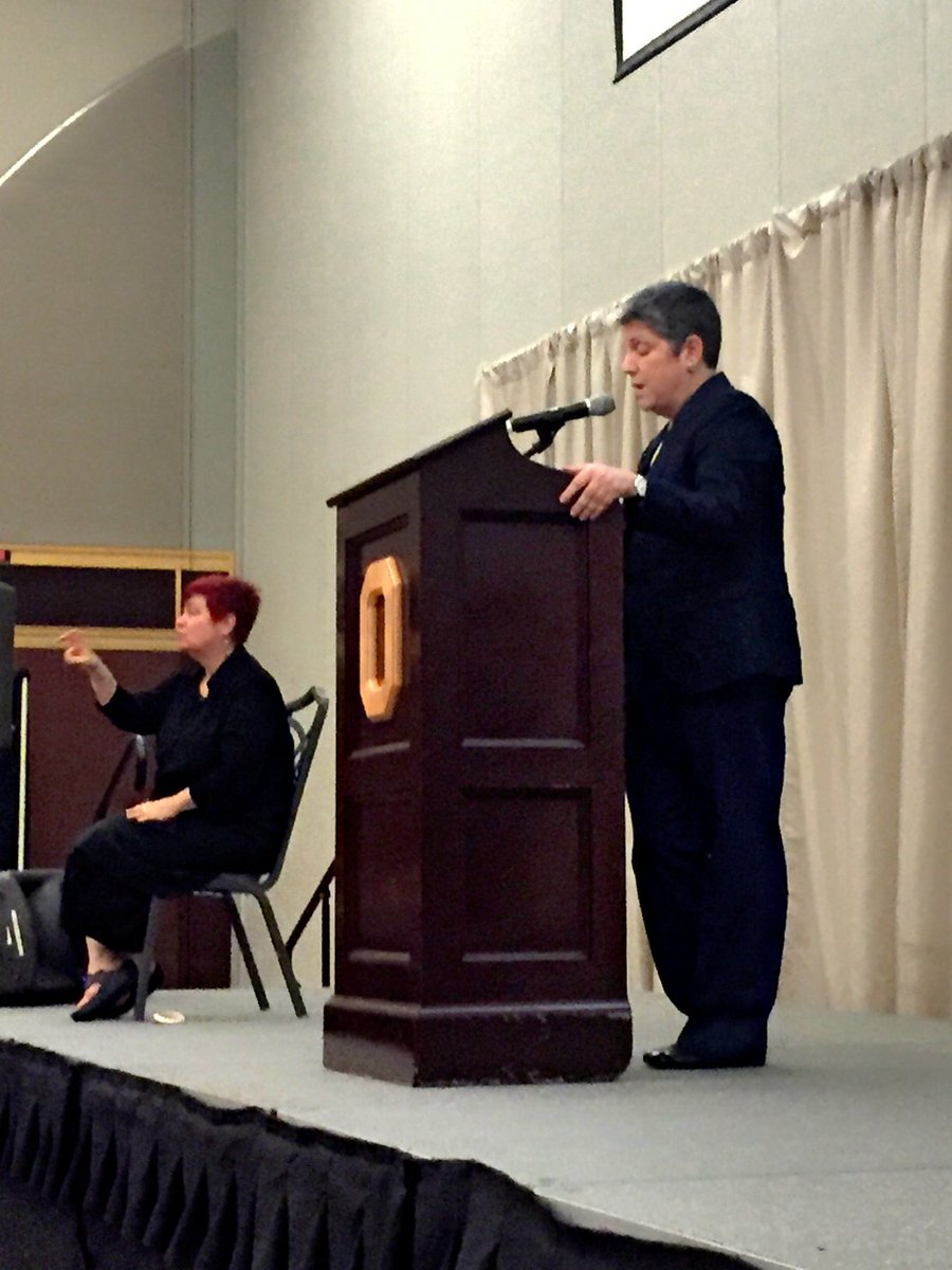 UC President Janet Napolitano gives the James Patterson land grant lecture #OSUengages https://t.co/sIE62xzu2z
