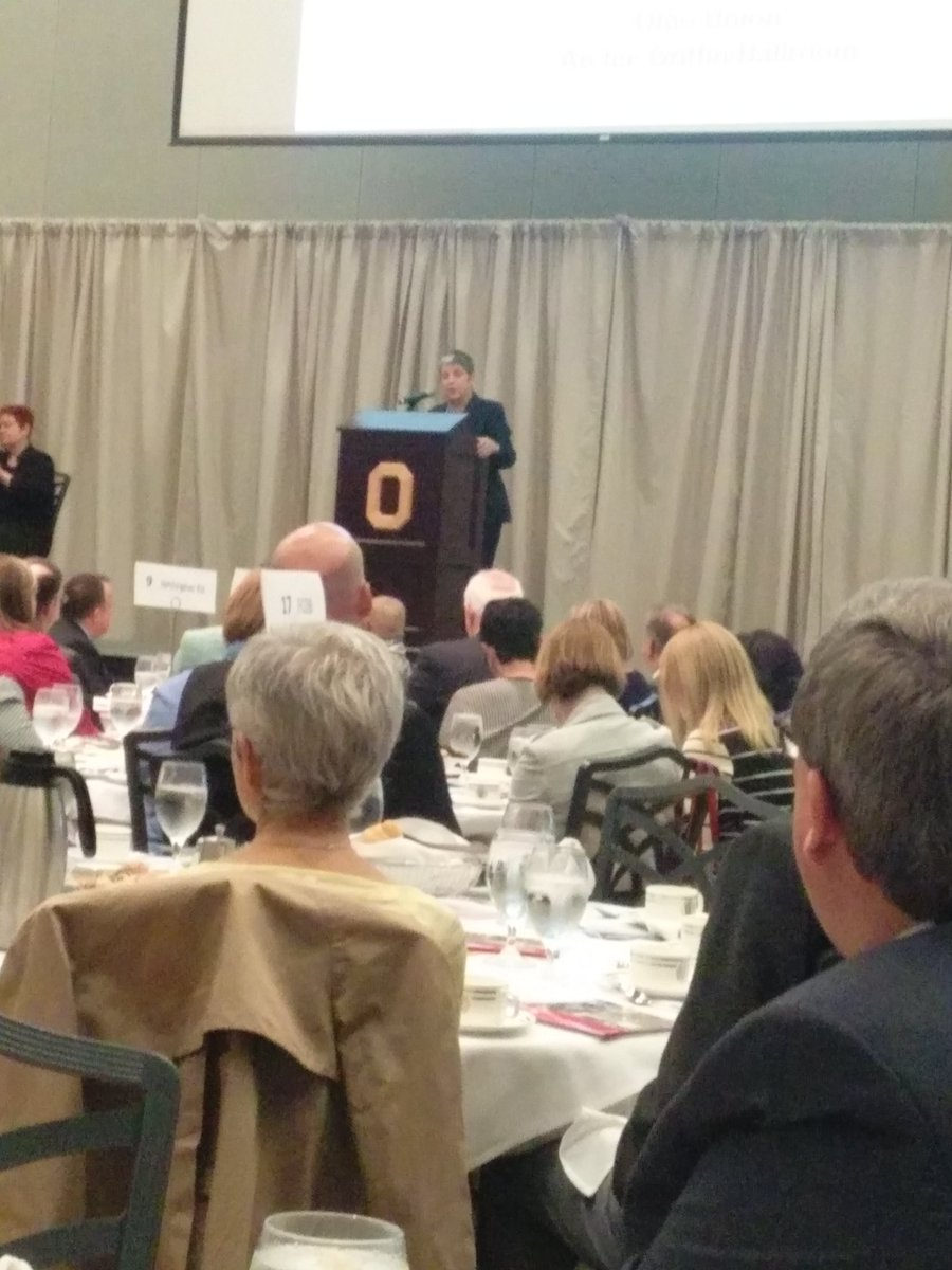 Janet Napolitano's inspiring Patterson lecture #OSUengages @osusoc  @ASCatOSU https://t.co/AO7xv9wRfn
