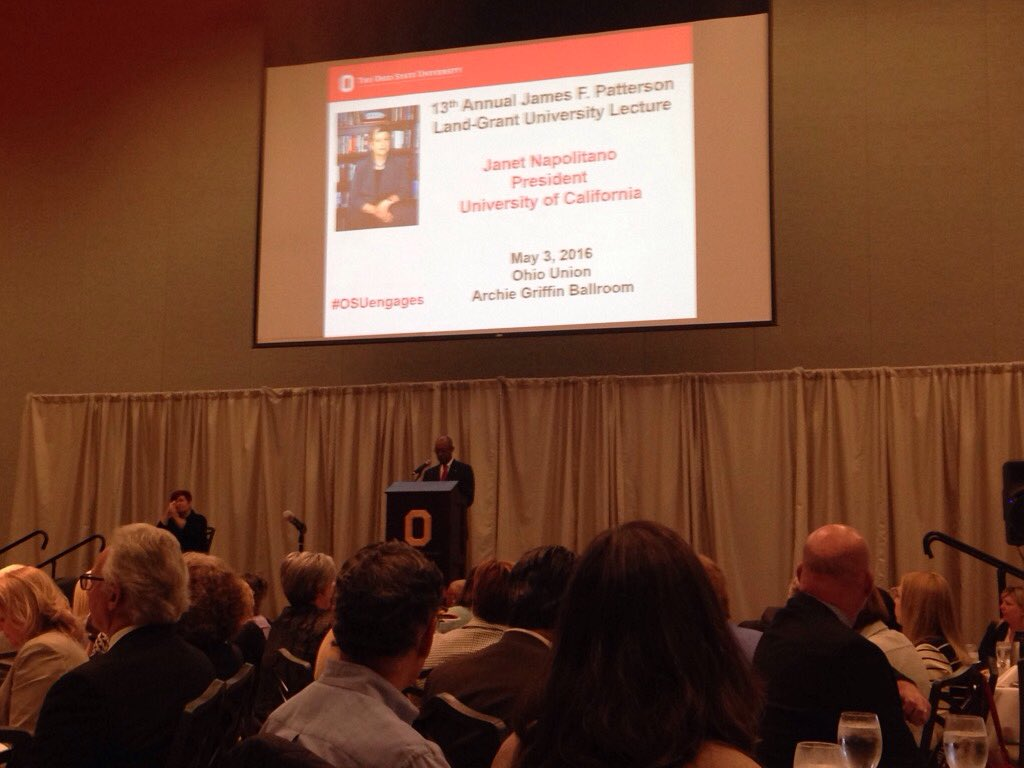 @OSUPrezDrake addresses Patterson Lecture. Proud that #outreach and #engagement is priority & passion #OSUengages https://t.co/ISZvALMjX5