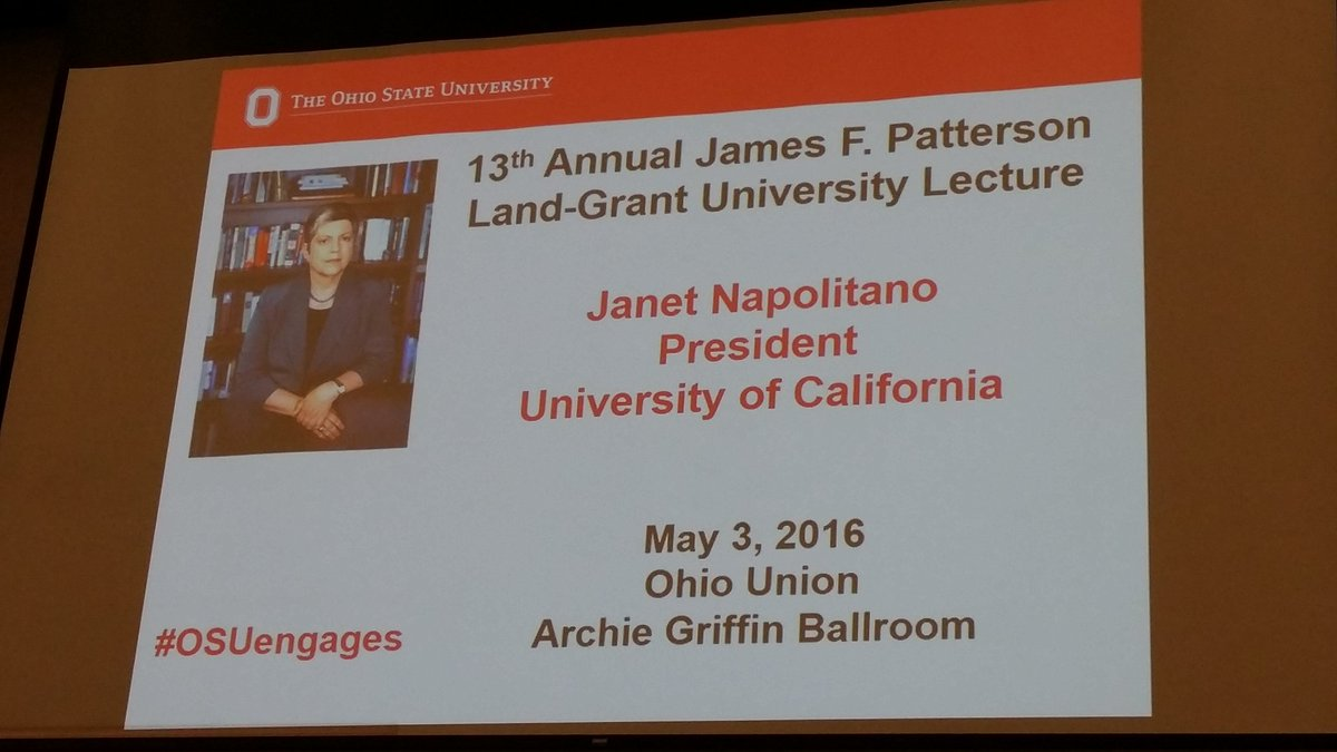 Lack of support/understanding of  land grant universites a worry for America's future. @JanetNapolitano #OSUengages https://t.co/scRiVVsj21