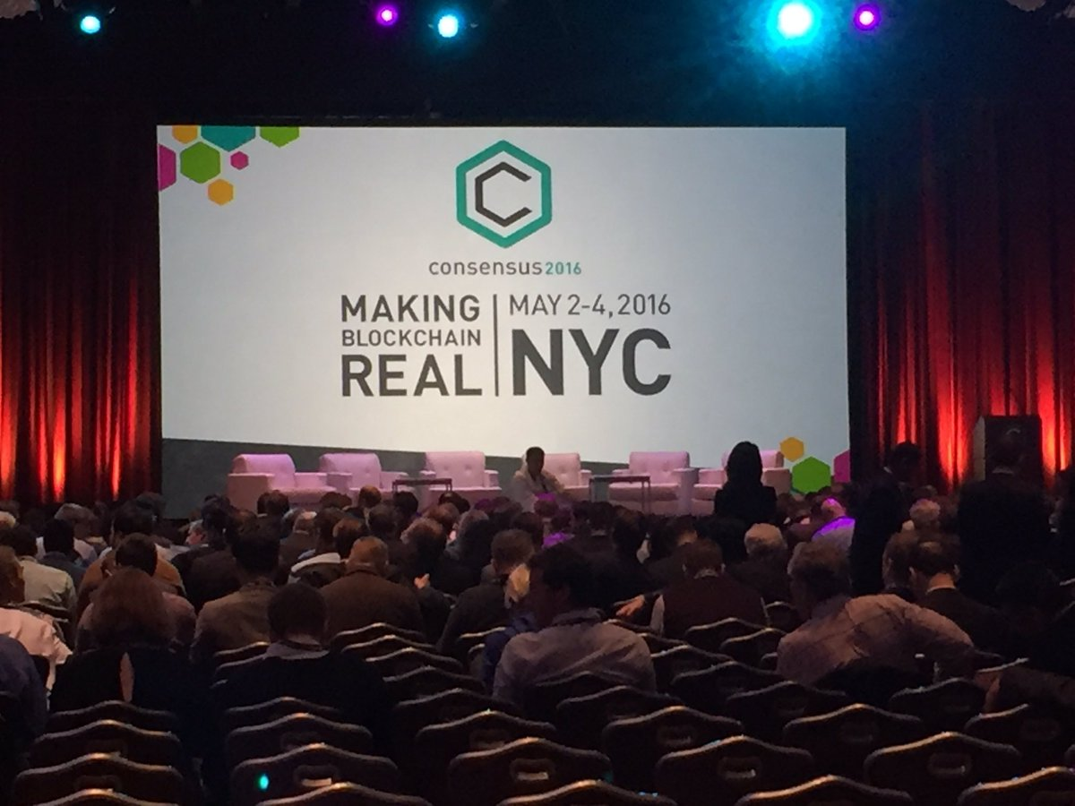 Lots of suits at what has clearly moved from a tech startup to a serious business conference  #Consensus2016 https://t.co/UCEnuuBWGj