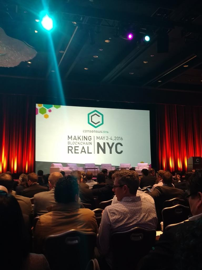 Día 2 #consensus2016 #bitcoin #blockchain #fintech https://t.co/rAF3j4Y8nr