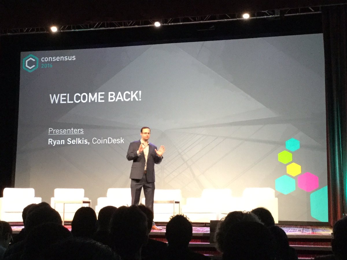DAY 2 at #Consensus2016 opened by @twobitidiot https://t.co/WcvKcLhACk