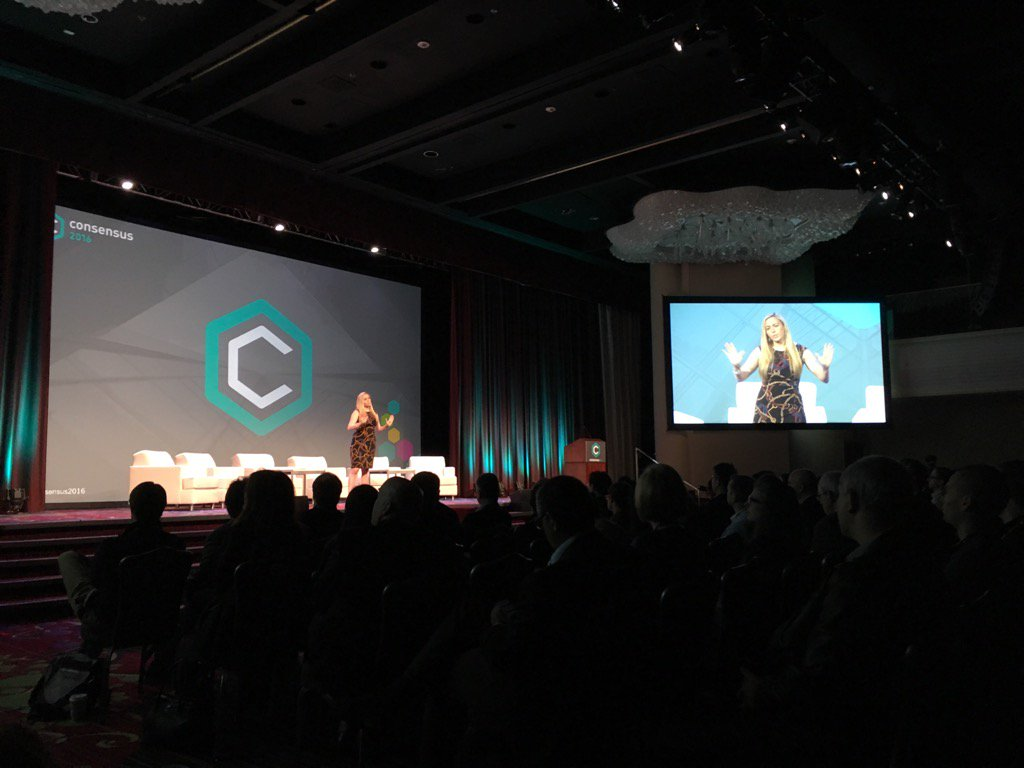 Jessica Renier speaking about the opportunity to increase gender diversity in #blockchain at #Consensus2016 https://t.co/4IkSyH8scI