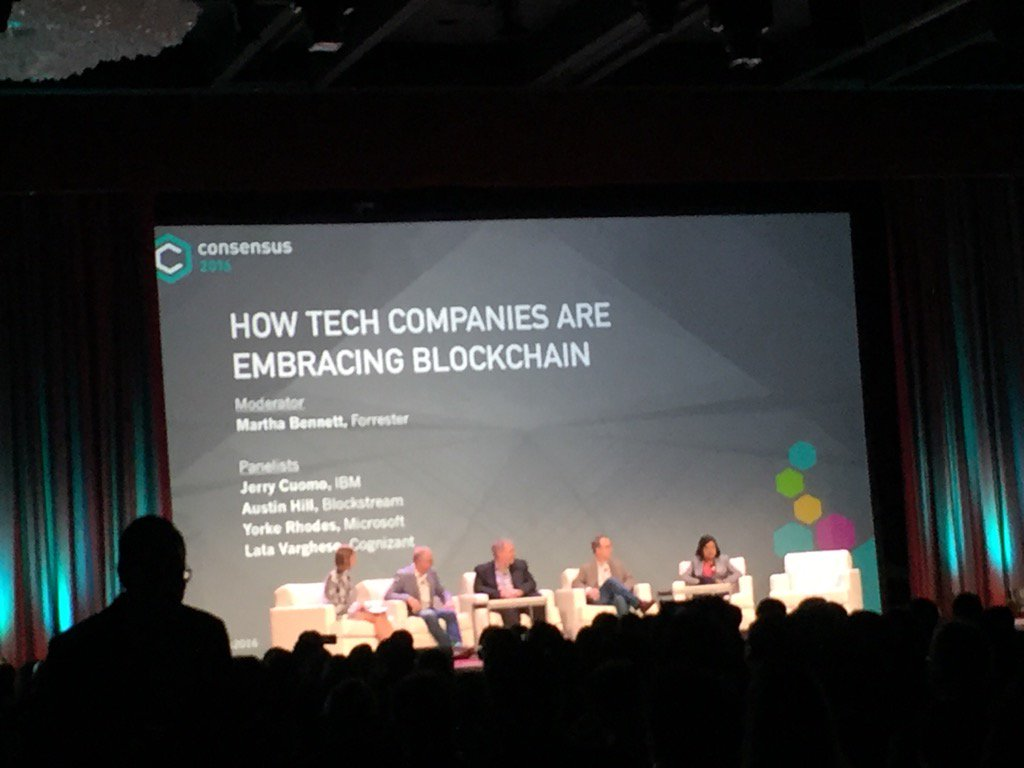 """How Tech Companies Are Embracing Blockchain"" @Consensus2016.  @Blockstream @IBM @Microsoft @Cognizant https://t.co/qdLQBmfxh8"