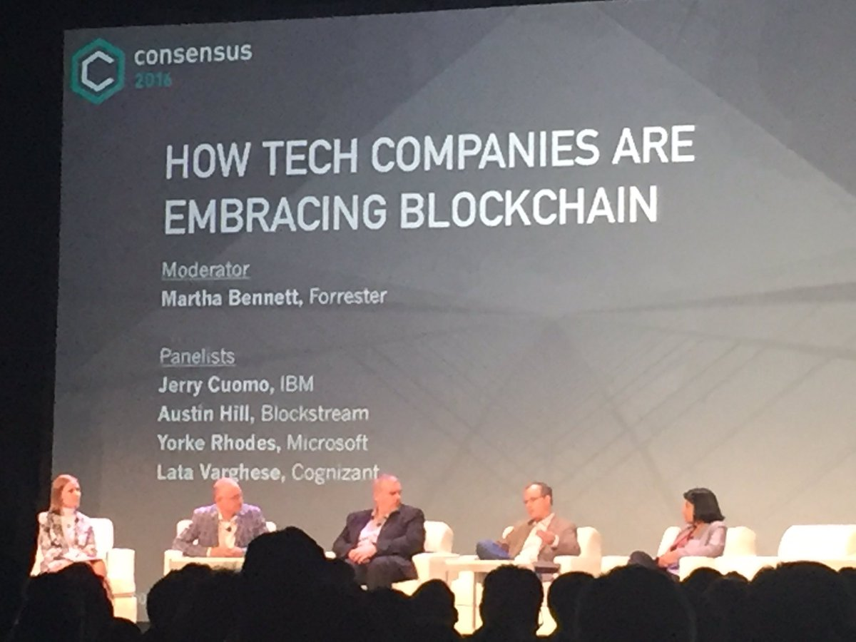 I see 2 cloud providers doing #Blockchain as a Service but no Amazon. When does AWS join the game? #Consensus2016 https://t.co/4FO9wCRufL