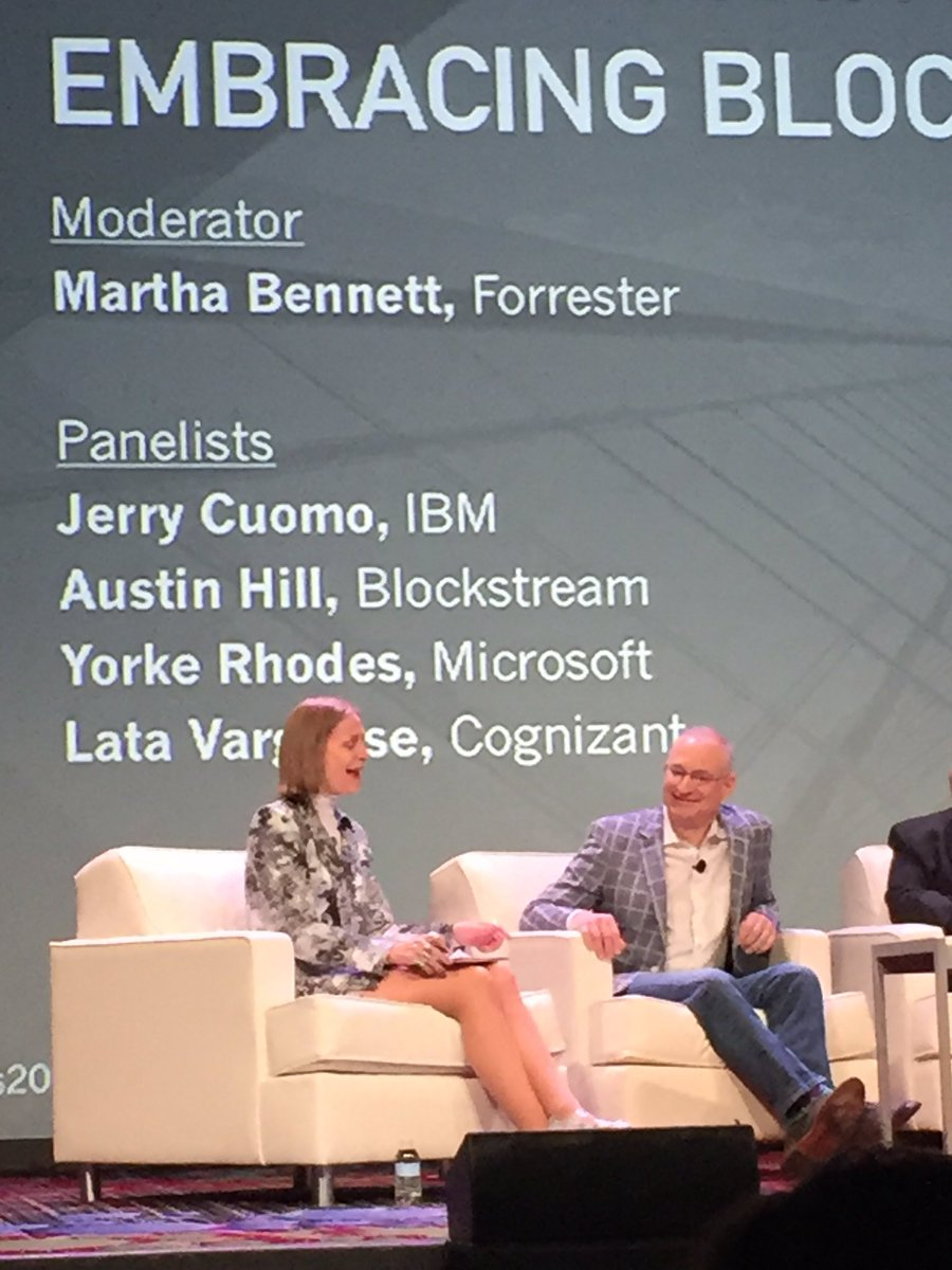 "IBM Blockchain strategy around three ""Cs"" community, cloud,and clients @JerryCuomo #IBMBlockchain #Consensus2016 https://t.co/WKa21IRt1f"