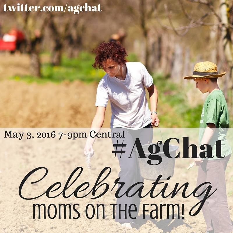 Don't forget - #AgChat tonight at 7 pm CST is celebrating Moms on the Farm for #MothersDay!  #MomLife https://t.co/6VMJJwxHaX