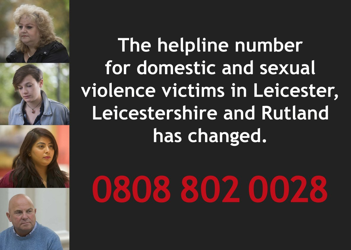 RT @Leicester_News: There is now one number for #domesticviolence and #sexualviolence support in #Leicester...https://t.co/SHj2C7uzrf https…