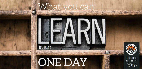 Find out what you can learn in just one day https://t.co/jPdFVbHpoS #B2BSummit16 https://t.co/g7g5TJ0N8R
