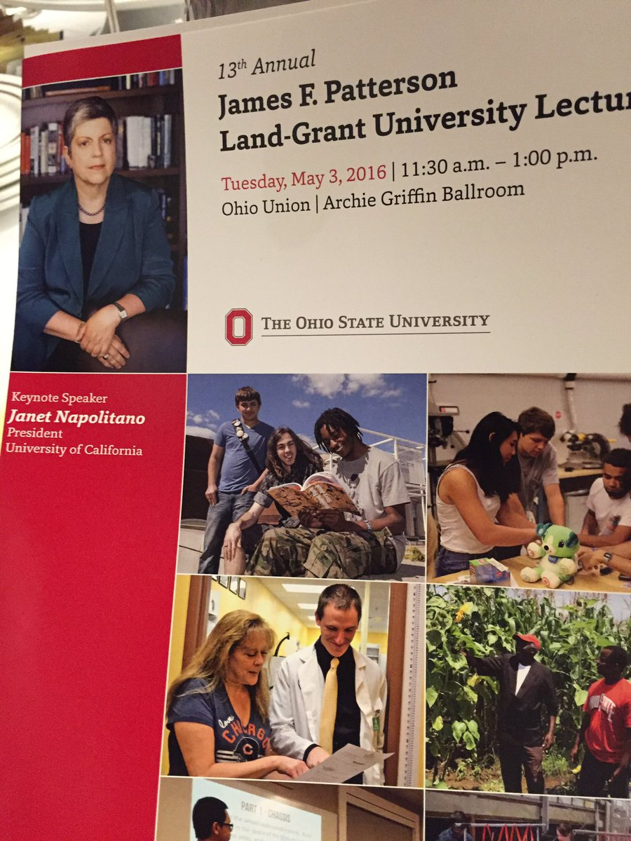 One of my favorite days @OhioState -- #osuengages Patterson lecture, this year featuring Janet Napolitano. https://t.co/vhnOSaD516