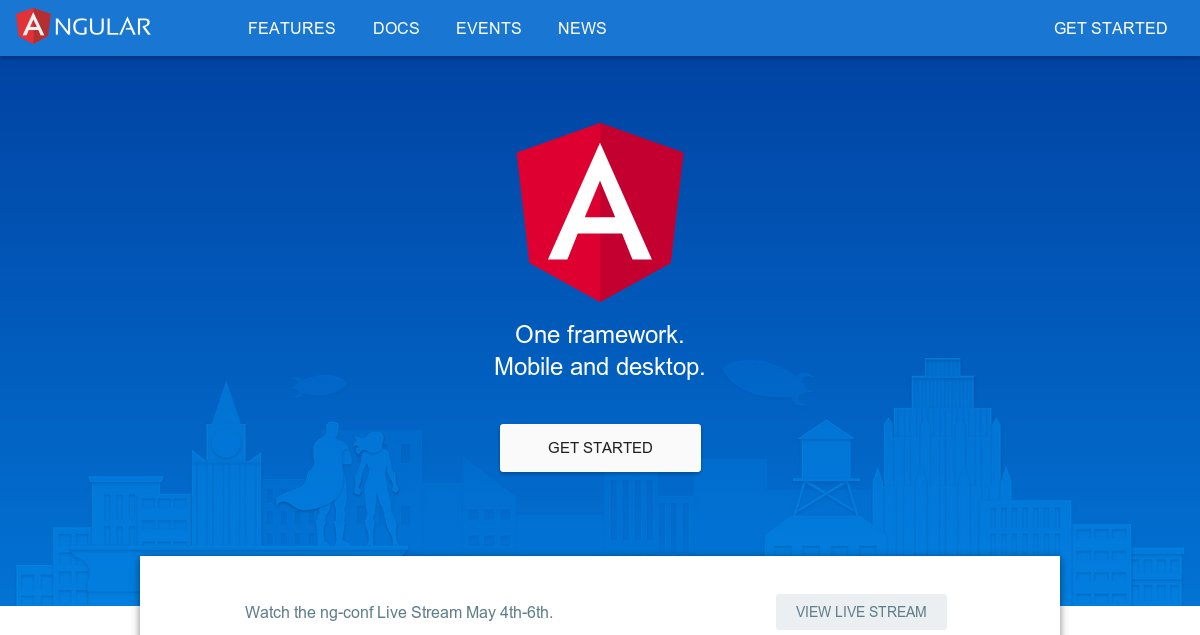 One framework. – Angular 2