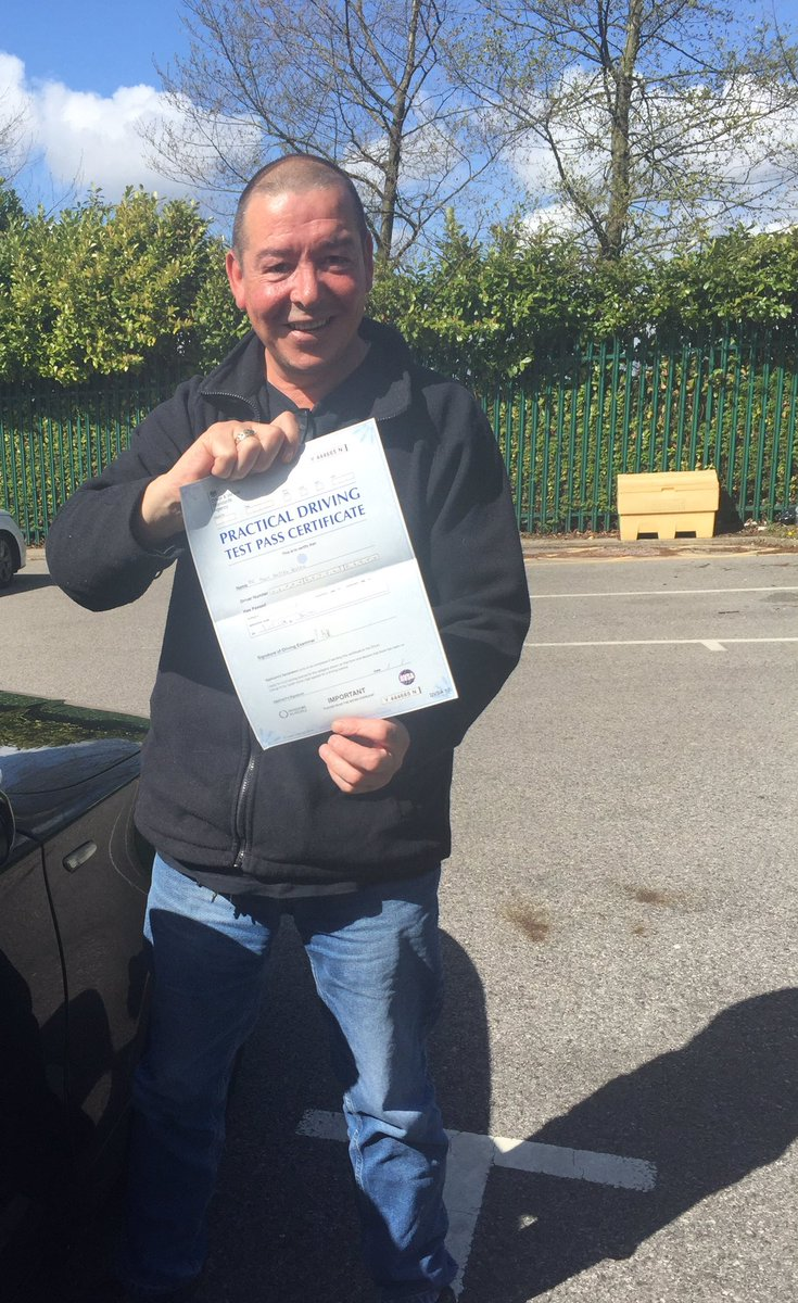 Congratulations Mark on passing your test first time #boltontestcentre #automaticdrivinglesson.com