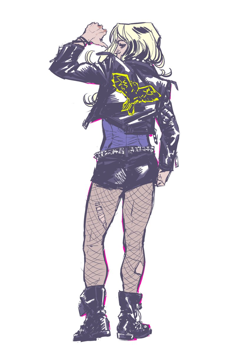 How cool is @claireroe's Black Canary!? @shawnabenson & I can't wait to see her in action. #DCRebirth #BirdsofPrey https://t.co/Gw5UpgPHQC