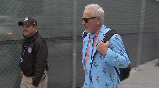 Cubs players model unique fashion choices for road trip