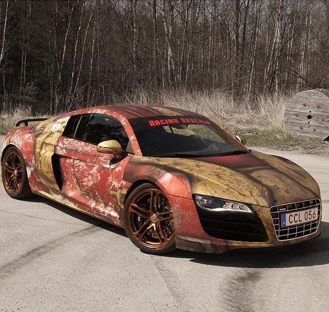Autosoul On Twitter IronMan Themed Wrap On An Audi R V - Cool audi