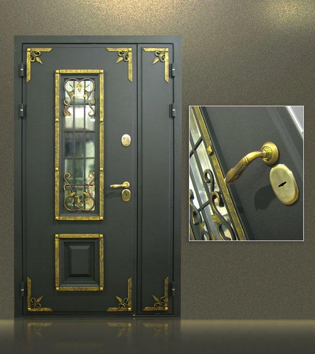 красивая входная дверь стеклопакет