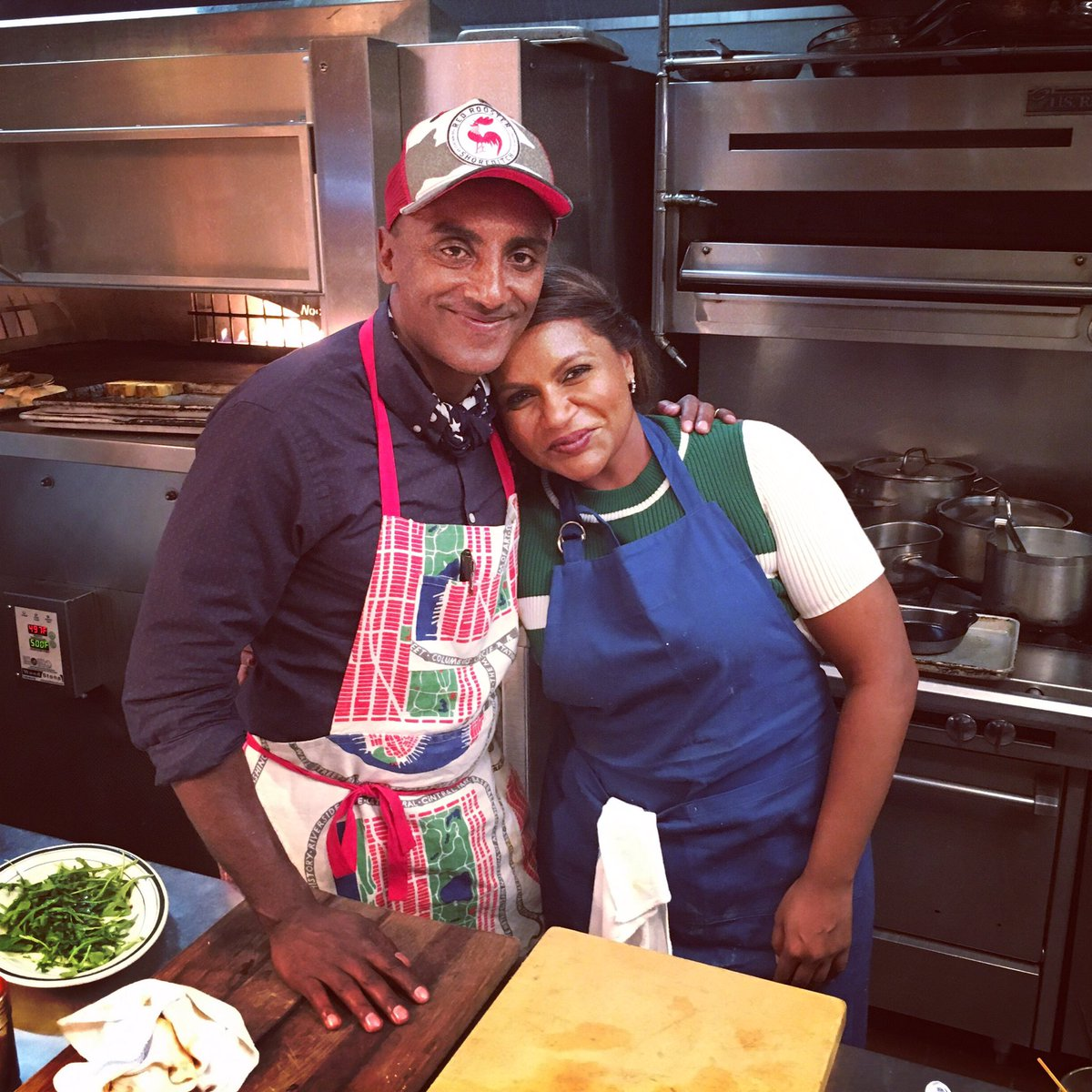 Mindy Kaling On Twitter Me And My Protegee Marcuscooks I Think He Learned A Lot Today