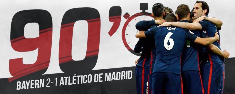 Bayern Monaco vs Atletico Madrid 2-1 ritorno semifinale Champions League 2015-2016