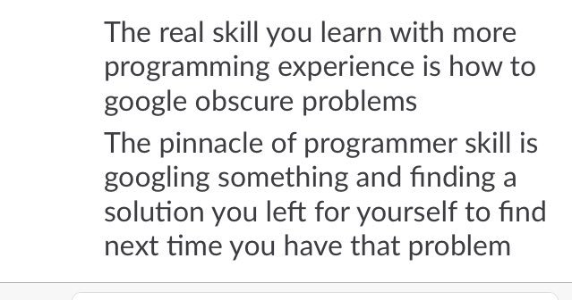 Wise words of programing.