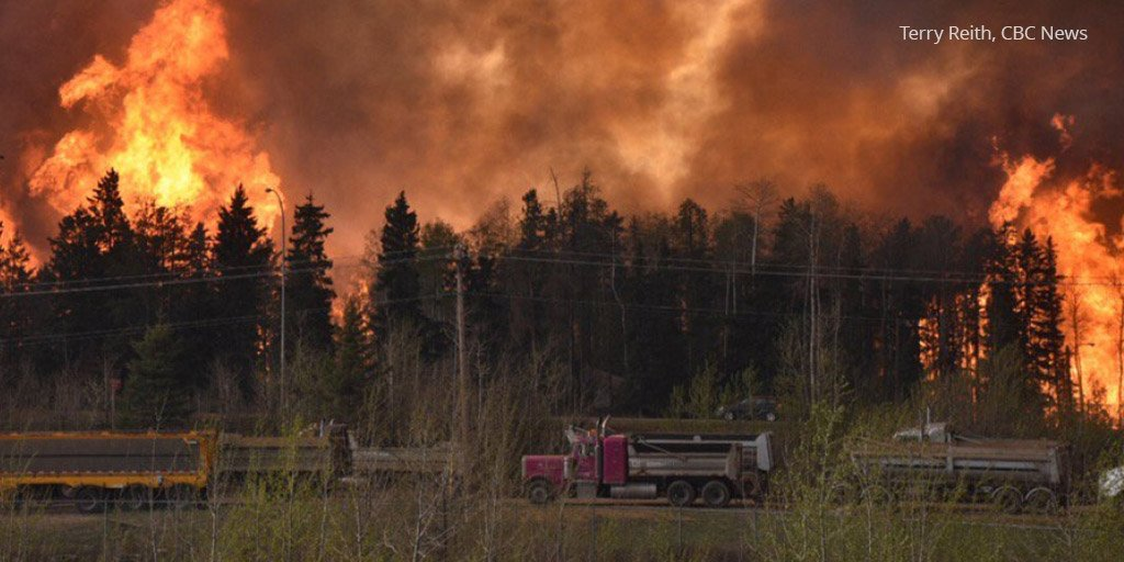 Largest fire-related evac ever in AB, +29,000 forced to leave. You can help: https://t.co/xa0TIyfAy8 #ABFire https://t.co/ESmqYk6wNA