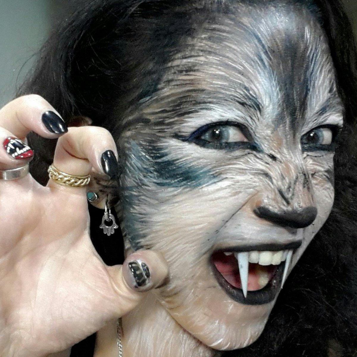 Wolf face makeup