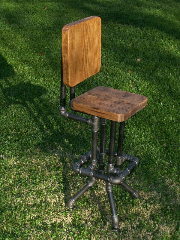 #Steampunk-ish Awesome of the Day: #Industrial Bar Stool by Sawdust Industries via @steampunkjnkies #SamaDesign