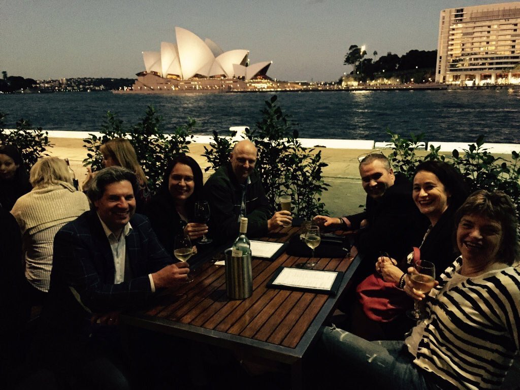 Having a drink with fab participants after my workshop @aitd1 today @great location. I've had worse days :) https://t.co/dfzTol84jj