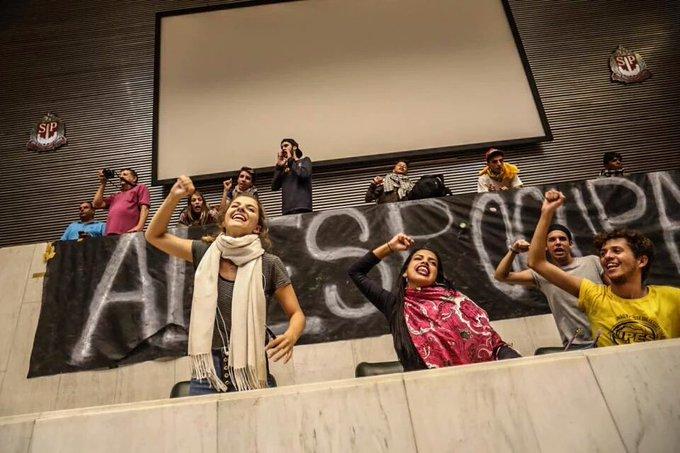 Até que enfim o.plenário da AssembLegislativa assistiu a abertura de uma CPI:só que pelos estudantes