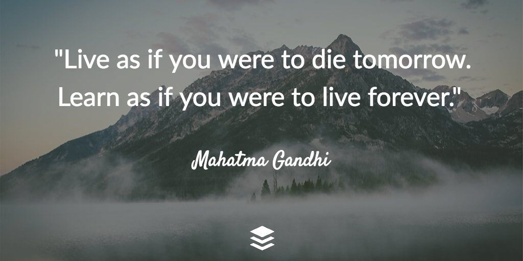 If you were going to die tomorrow?