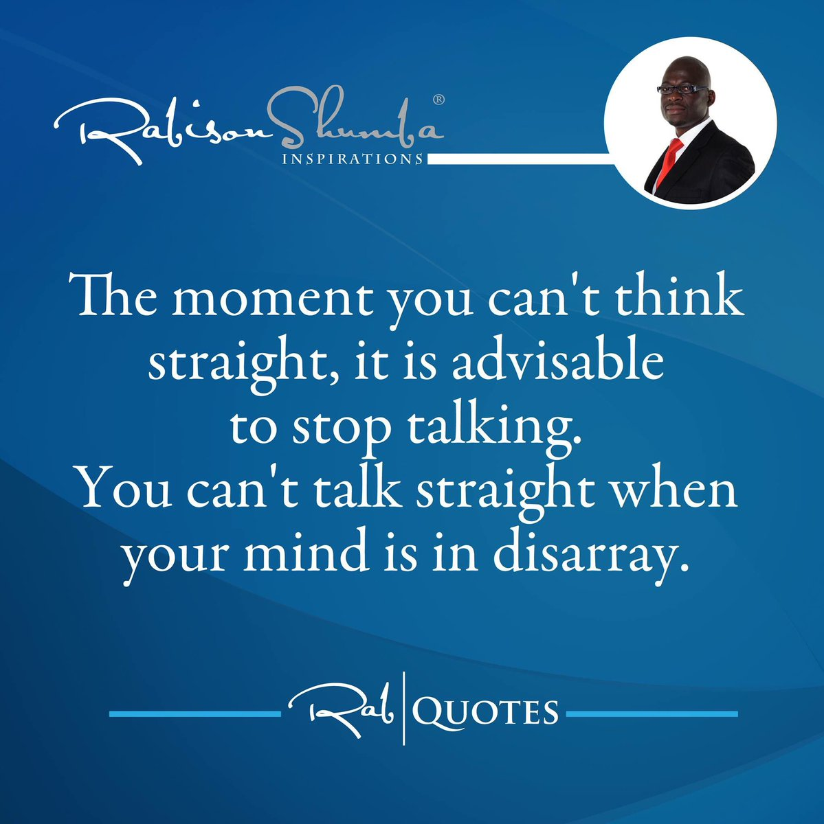 Maturity is in knowing when to talk and when to shut up. Don't be under pressure to talk. #RabCoaching https://t.co/9O7SBlfnRl
